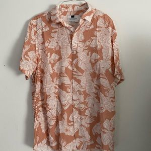 Topman Floral Button Down Shirt